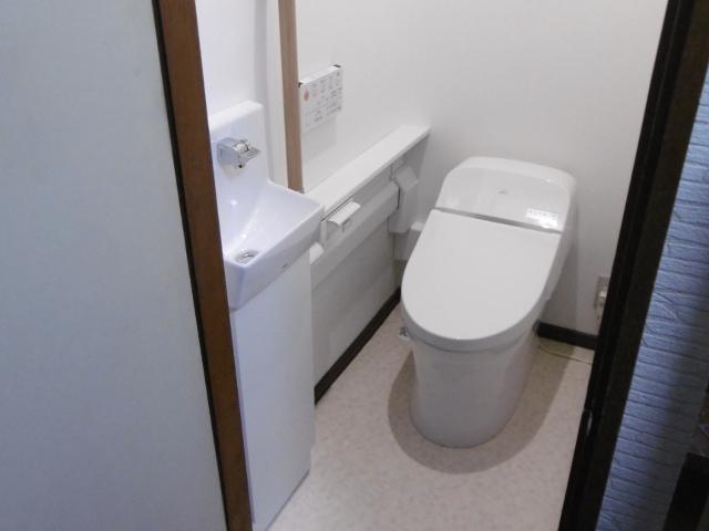 手洗器を前に設置して使いやすく