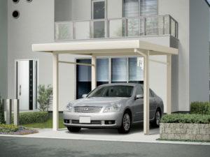 アルミ製折板屋根カーポート